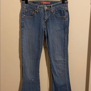 Levi Strauss & Co super low boot cut jeans